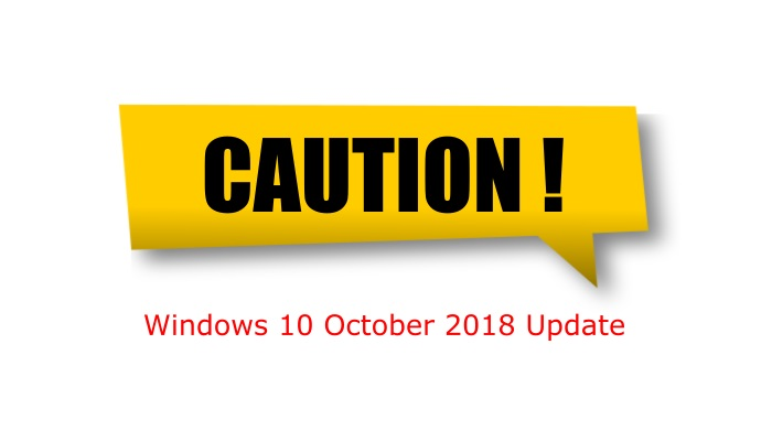 Windows 10 Update Caution